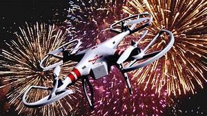 Drone Inside Fireworks