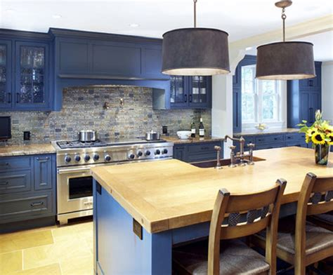 blue countertop kitchen ideas blue kitchen cabinets with wood countertops