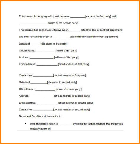contract agreement template between two memorandum of agreement between two hunecompany