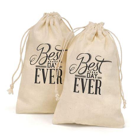 day  cotton favor bags invitations  dawn