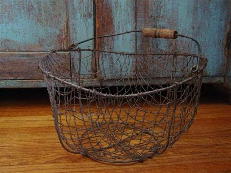 1800 s primitive made wire potato gathering