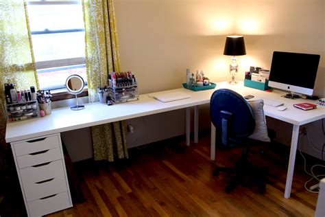 ikea l shaped desk hack ikea desks office makeover part one modern martha