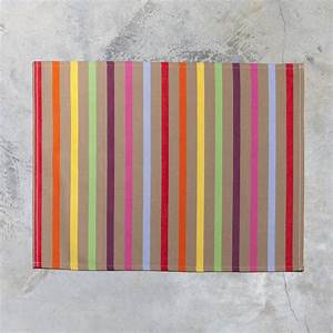 Set De Table Jaune : set de table basque amaya rayures vert rouge jaune 40x50 coton ~ Teatrodelosmanantiales.com Idées de Décoration