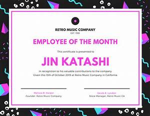 Employee Certificate Templates Free Customize 1 510 Employee Of The Month Certificate Templates Online Canva