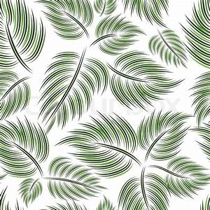 Seamless pattern with green leaf leaves on white