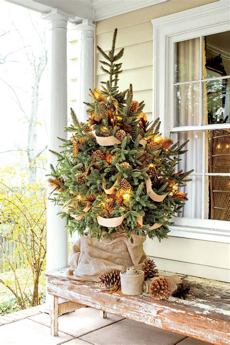 decorating tree with burlap ribbon new ideas for tree garland southern living