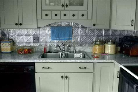 tin backsplash for kitchen painted kitchen cabinets shaker doors cliqstudios