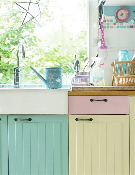An Inspiring Painted Kitchen In Pastel Hues And Candy