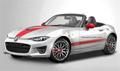 fiat roadster abarth roadster rendered based on 2016 mazda mx 5