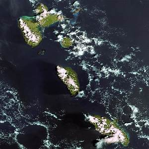 Earth From Space  Martinique  Dominica And Guadeloupe