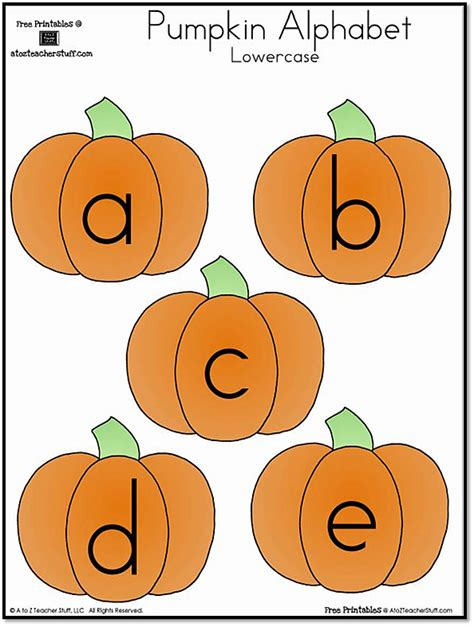 pumpkin lowercase and uppercase alphabet a to z teacher stuff printable pages and worksheets