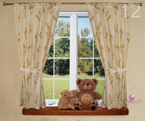 luxury baby room window curtains in matching pattern for