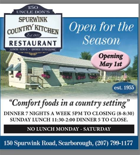 spurwink country kitchen scarborough me don s spurwink country kitchen american restaurant 8205