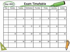 Exam Timetable SchoolStickers