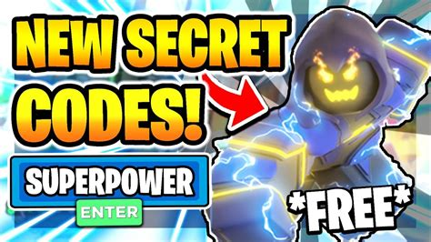 Were you looking for some codes to redeem? ALL *NEW* SECRET WORKING CODES in SUPER POWER SIMULATOR! NEW Roblox Super Power Simulator ...