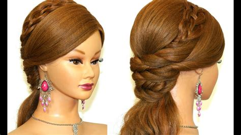 easy prom hairstyle  long hair youtube