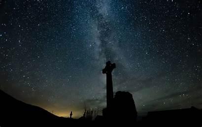 Cross Galaxy Stars Night Wallpapers Cool Way