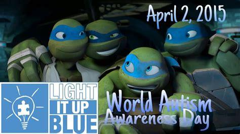 light blue ninja turtle tmnt light it up blue autism awareness day by