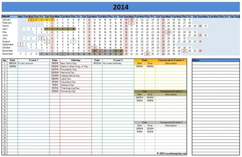 excel linear calendar template  calendar template