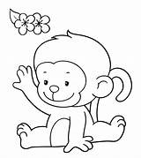Monkey Coloring Printable Colouring Monkeys Momjunction Animals Toddler Animal Template Famous Concept Cdn2 sketch template