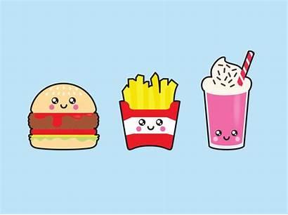 Junk Clipart Kawaii Clip Fries Dibujos Premium