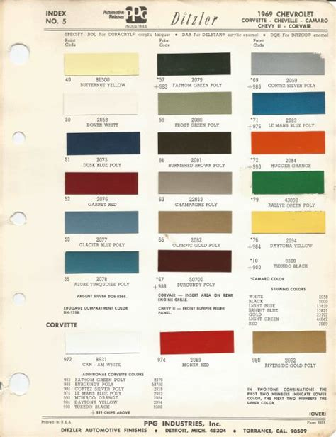 where is the paint code on a chevy traverse 1969 chevrolet factory paint chip chart 500px wide jpg 500 215 651 1970 chevy