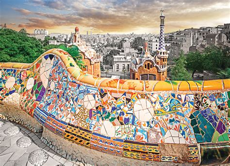 metal box barcelona park guell jigsaw puzzle puzzlewarehouse com
