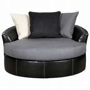 Ashley, Signature, Design, Jacurso, 9980421, Contemporary, Round, Oversized, Swivel, Accent, Chair
