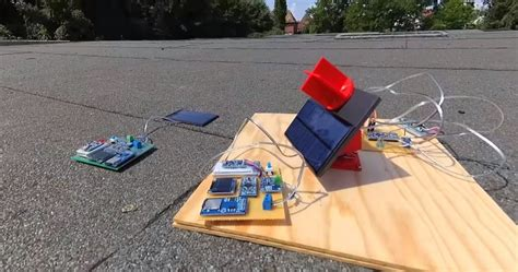 diy  mini solar tracker    sun