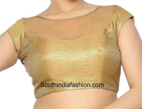 Boat Neck Cutting In Tamil by Boat Neck Blouse With Transparent Neck Jpg 1383 215 1066