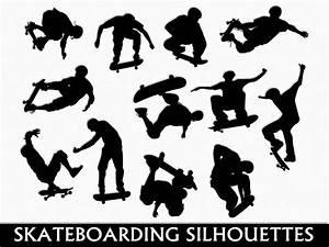 Skateboarding Clip Art Graphic Skateboard Clipart Digital