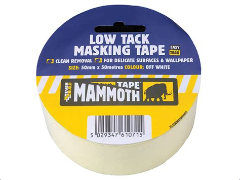 tack tape low masking everbuild 25m paper mammoth 50mm 25mm tools directtoolsales