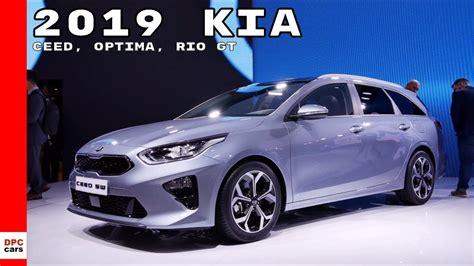 2019 Kia Ceed, Optima, Rio Gt