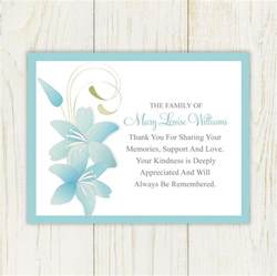 thank you card exle sympathy card thank you messages thank you replies for condolences
