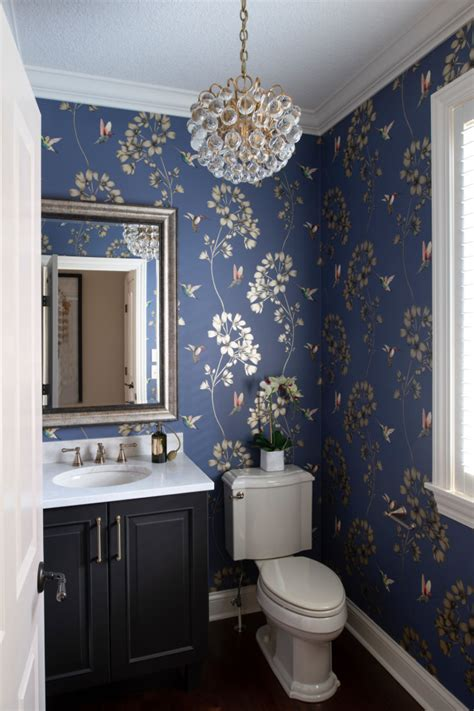 elegant traditional powder room interiors