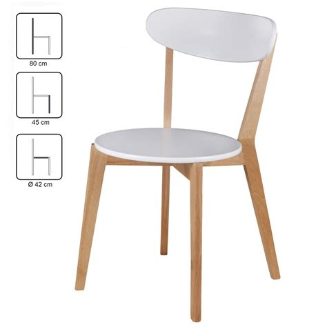 Esszimmer Le Skandinavisch by Finebuy 2er Set Esszimmerst 252 Hle Mdf Wei 223 Design Holz