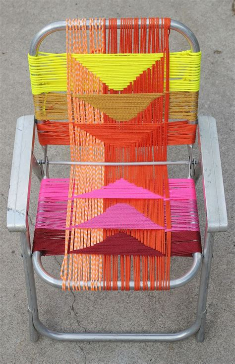 aluminum chair makeover a beautiful mess