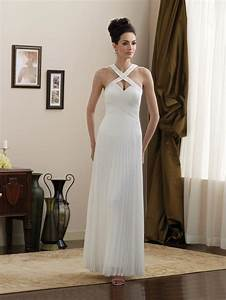 chiffon informal wedding dress white prlog With white informal wedding dress
