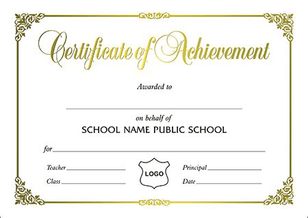 certificates  size certificate  achievement