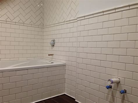 subway tile bathroom traditional bathroom new york