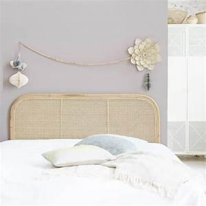 Lit En Rotin : tete de lit double canne arrondie vente de meubles en tiges de rotin chambre ~ Teatrodelosmanantiales.com Idées de Décoration