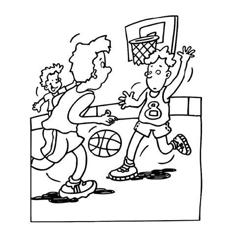 Kleurplaat Basketbal by Leuk Voor Basketbal 0003
