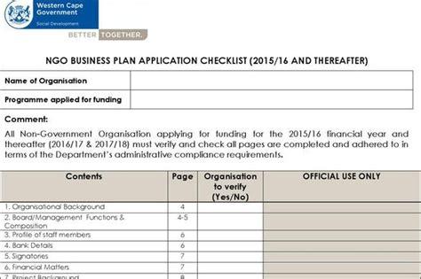 20+ Non Profit Business Plan Template Free Download
