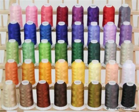 embroidery thread colors new 40 colors embroidery thread set 40wt polyester