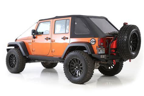 2 door jeep wrangler smittybilt 9073235 bowless combo soft top for 07 17 jeep