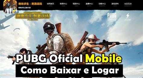 como baixar pubg mobile lightspeed do site oficial apk atualizado mobile gamer tudo