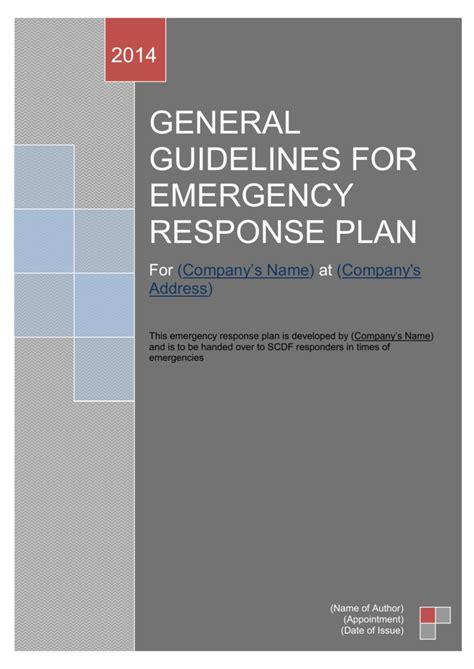 emergency response plan erp singapore civil defence force