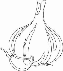 gr garlic Colouring Pages