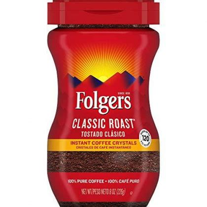 Folgers instant coffee, white granulated sugar & boiling water. Shop Folgers Classic Roast, Instant Coffee Crystals, 8 Oz Online at Low Prices in USA ...