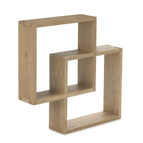 étagère cube murale en chêne tassia ameublement salon